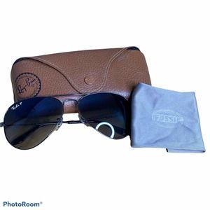 Ray Ban Polarized Aviator Sunglasses RB3025 004178 58014-135 3P Metal Frame Lrg.
